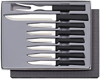 product image for Rada Cutlery Meat Lover's 8-Piece Steak Knife Gift Set – Stainless Steel Blades and Steel Resin Handles
