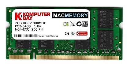 Komputerbay 2GB 1X2 800 SODIMM - Memoria RAM para iMac y MacBook ...