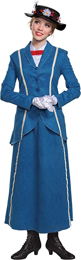 1900s, 1910s, WW1, Titanic Costumes Disguise Adult Mary Poppins Halloween Costume Mary Poppins Costumes for Women $49.99 AT vintagedancer.com