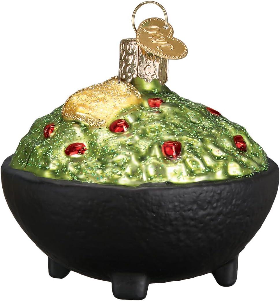 Old World Christmas Guacamole Avocado Glass Blown Ornaments for Christmas Tree