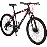 "Cyrusher XF300 27.5""Wheel 24 Speed 19"" Frame Hardtail Mountain Bike MTB ShimaAluminum Frame Quick Release Wheels Dual Disc Brakes Suspension Fork"