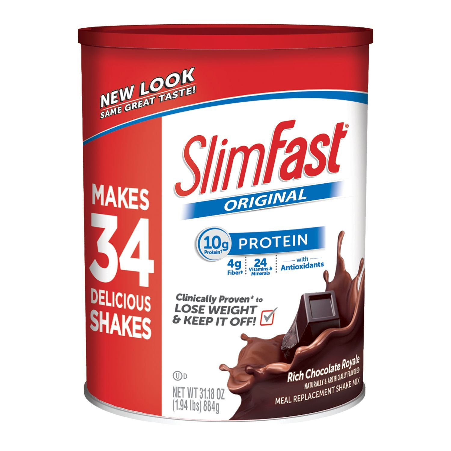 SlimFast! Chocolate Royale Shake Mix, 31.18 oz. (pack of 6) by SlimFast (Image #1)
