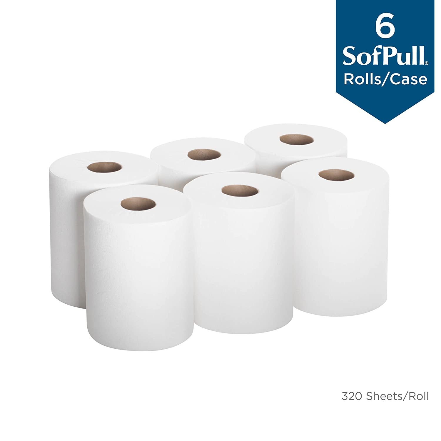 275 Sheets Per Roll SofPull Centerpull Junior Capacity Paper Towels by GP PRO 8 Rolls Per Case COUGEP28125 Georgia-Pacific White 28125
