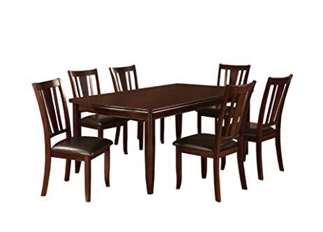 expandable furniture. Furniture Of America Anlow 7-Piece Dining Table Set With 18-Inch Expandable Leaf