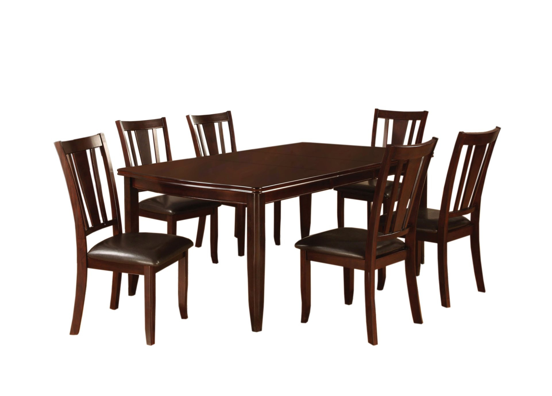 Furniture of America Anlow 7-Piece Dining Table Set with 18-Inch Expandable Leaf, Espresso by Furniture of America (Image #1)