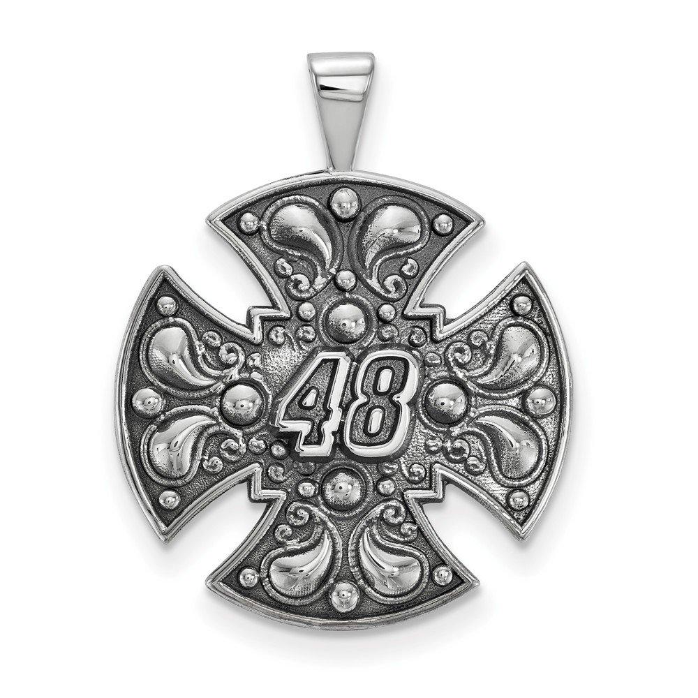21mm x 27mm Solid 925 Sterling Silver Bali Maltese CROSolid 925 Sterling Silver 48