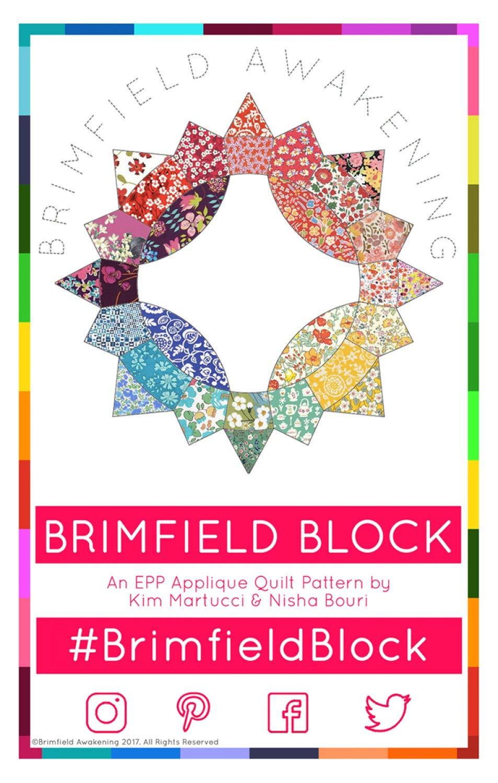Brimfield Awakening Paper Pieced Quilt Pattern - BA1130 Brimfield Block Original (Finished Project Size is 61'' x 47'') by Brimfield Awakening