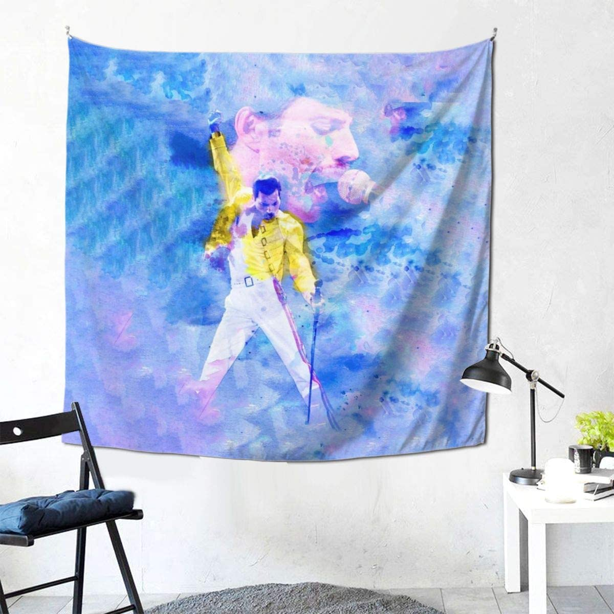 Queen Rock Band Freddie Mercury Tapestry Wall Hanging Bedding Living Room Dorm Home Decoration Gift 59 X 59