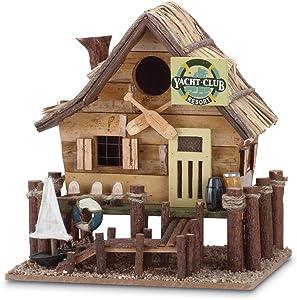 Gifts & Decor Wood Yacht Club Nautical Bird House/Feeder