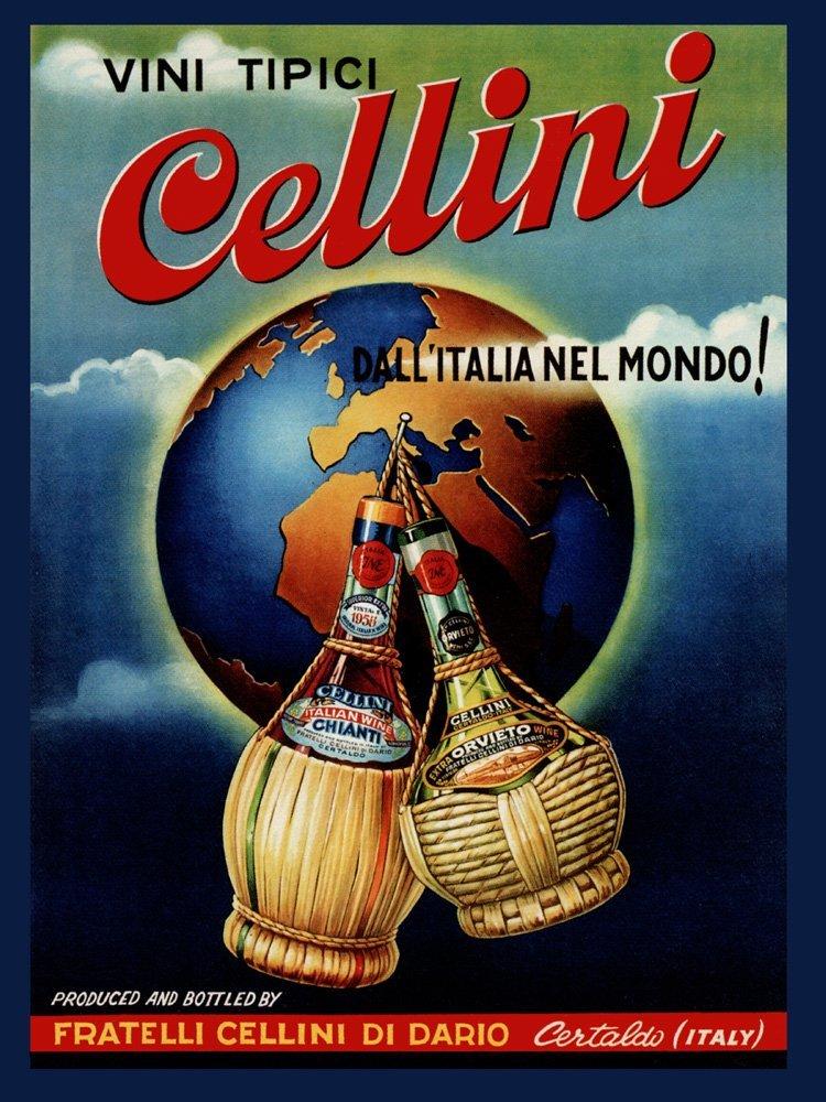 Vivi Tipici Cellini Vintage Poster