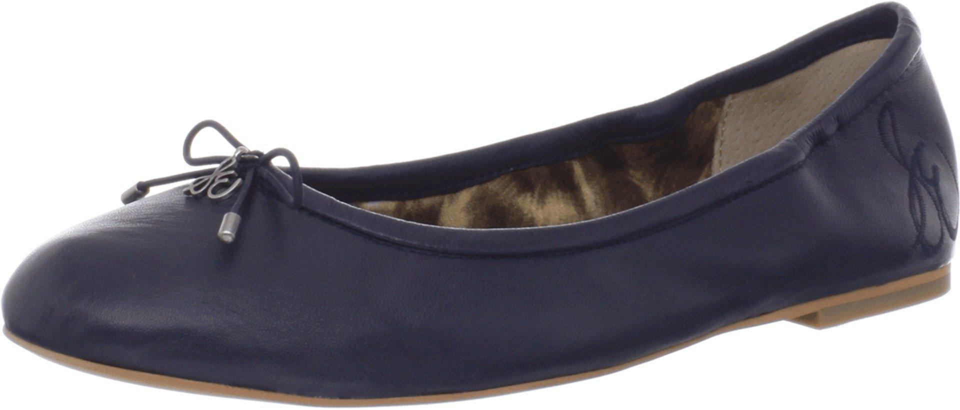 Sam Edelman Women's Felicia Ballet Flat, Navy Leather, 7 Wide US