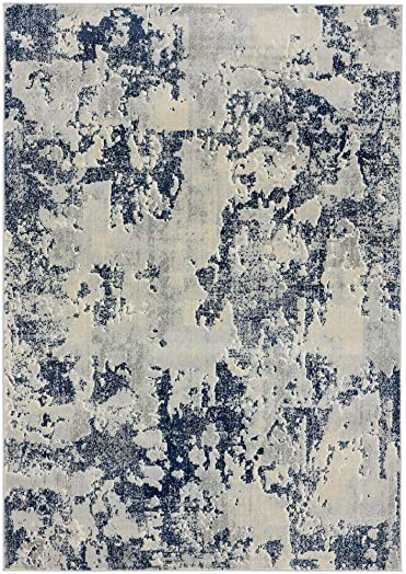Luxe Weavers New Castle Blue 9×12 Modern Area Rug - the best living room rug for the money