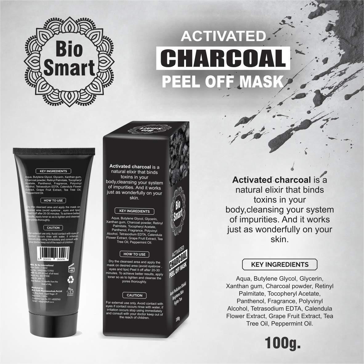 Buy Bio Smart Activated Charcoal Peel Off Deep Pore