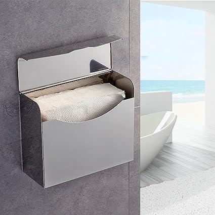 Auralum® Dispensador de papel higiénico/portarrollos papel higienico de pared Accesorios para WC Baño