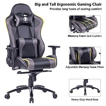 Super Amazon Com Killabee Big And Tall Metal Base Gaming Chair Spiritservingveterans Wood Chair Design Ideas Spiritservingveteransorg