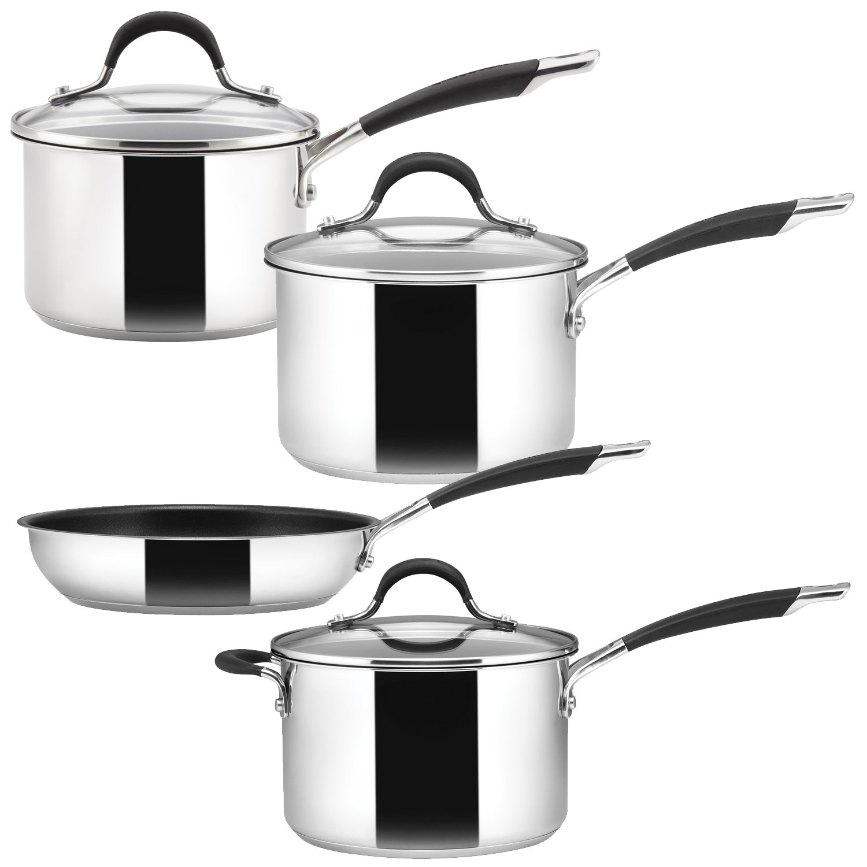 Circulon Momentum Saucepan, Stainless Steel, Set of 3 Meyer Group Ltd. 78054