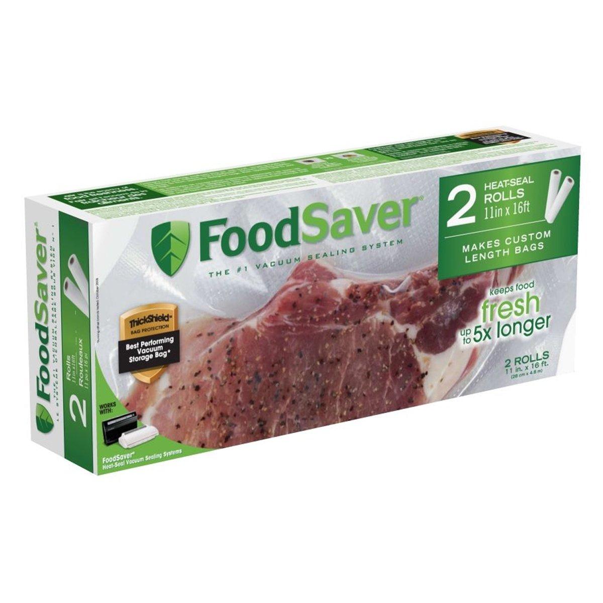 FoodSaver 2 rolls of 11x16' FSFSBF0626-033