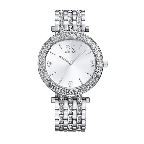 shengke SK K0011 de la mujer relojes Fashion dorado muñeca relojes para mujer: Amazon.es: Relojes