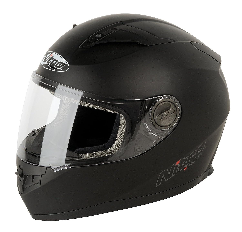 Nitro 187147 M02 casco Moto N2100 uno Negro Negro mate: Amazon.es: Deportes y aire libre