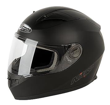 Nitro 187147L02 N2100 UNO Casco Moto, Color Negro Mate, Talla L