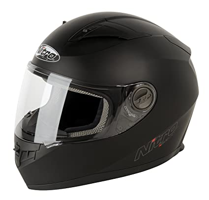 Nitro 187147M02 N2100 UNO Casco Moto, Color Negro Mate, Talla M