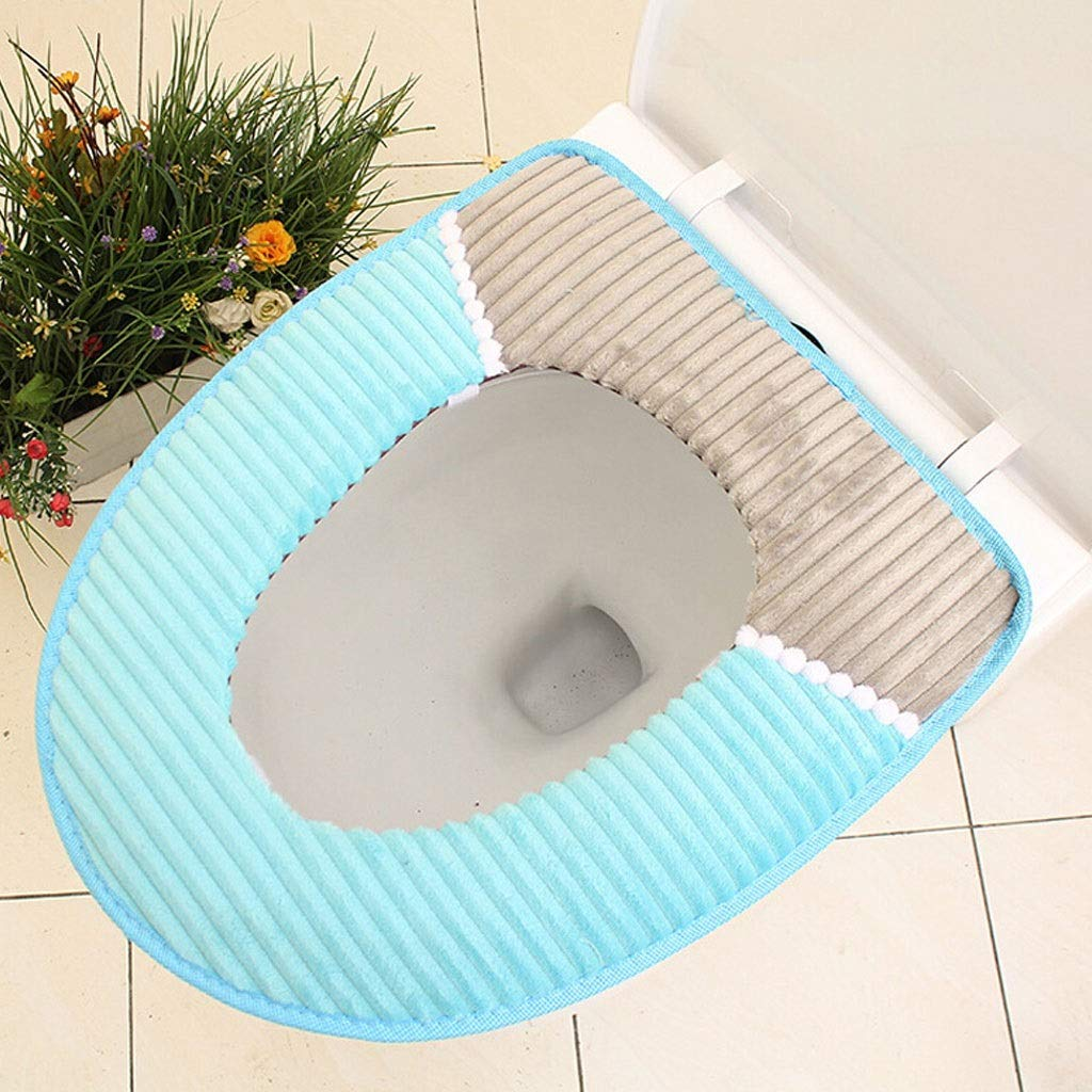 YS-FeiTeng Toilet cover warm toilet seat toilet seat toilet seat cushion padded toilet seat cover winter universal waterproof toilet seat thick warm toilet seat waterproof household washer flannel toi by YS-FeiTeng