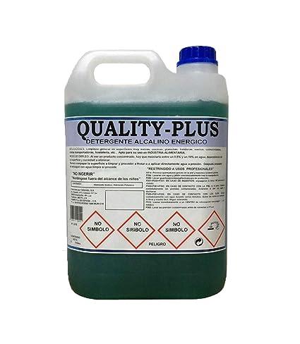 """CE Quality-Plus DESENGRASANTE SÚPER-Concentrado Energético.""""Especial para COCINAS Y Suelos Muy sucios - Motores """" Aroma MENTOLADO (5Kgrs)"""