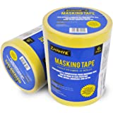 Auto Masking Tape 1-Inch x 55-Yards ,Wide Masking Tape For Home and Office , 6 Rolls.