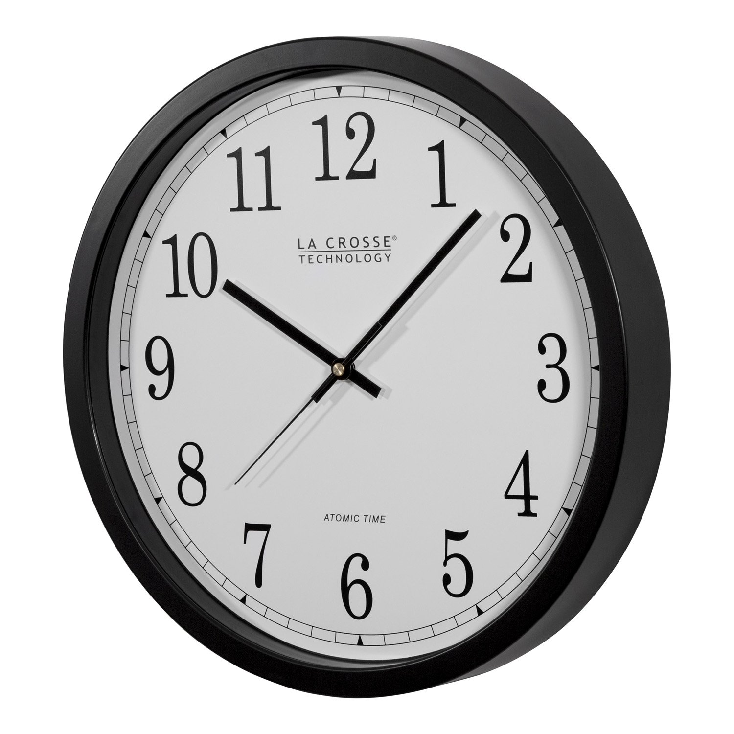 Amazon la crosse technology wt 3143a int 14 inch atomic wall amazon la crosse technology wt 3143a int 14 inch atomic wall clock black home kitchen amipublicfo Images