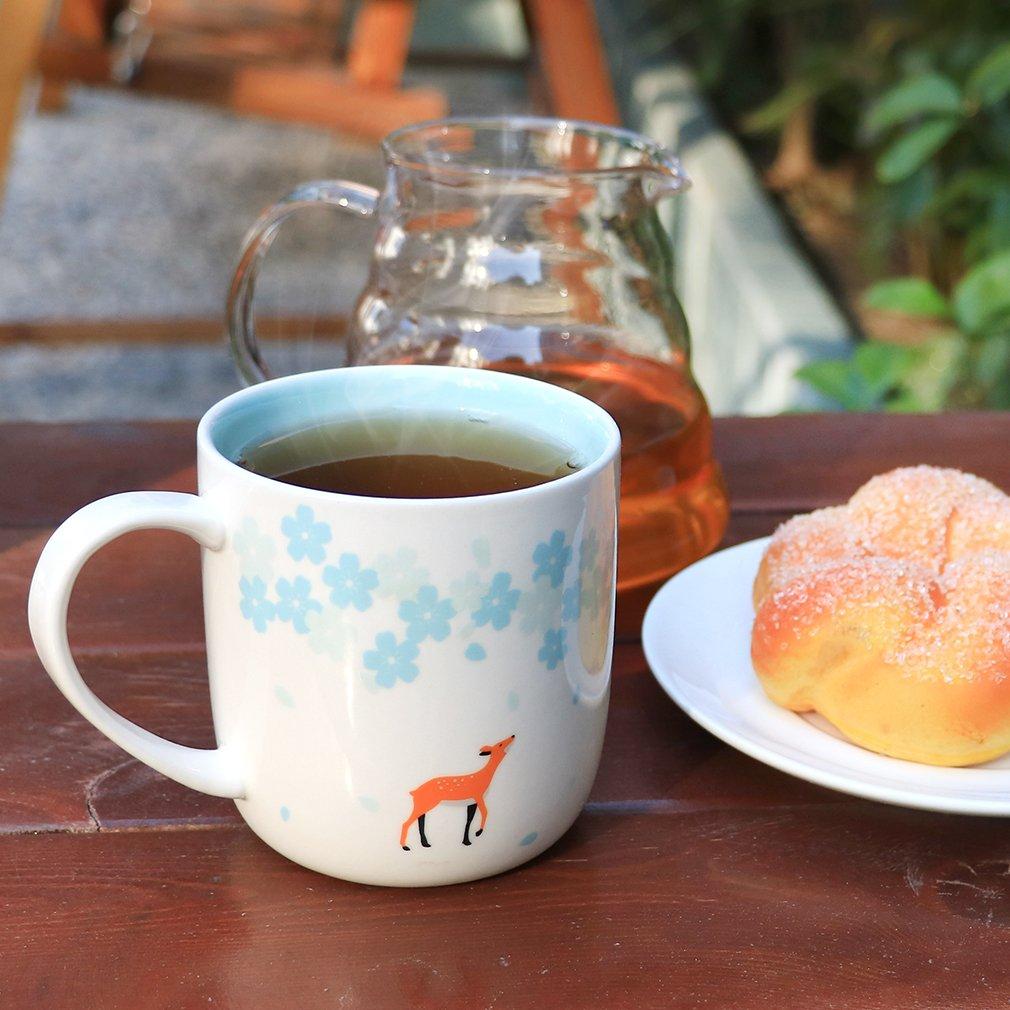 EPFamily Cute Deer Mug Funny Ceramic Coffee Tea Cups Mugs Gifts for Women Girls Grandma Mom Animal Lovers 11 oz by EPFamily (Image #2)