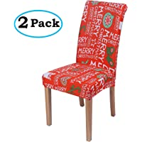 misaya Stretch Spandex Dining Room Chair Cover Removable Washable Chair Protector Flowers Painting Stool Seat Slipcover