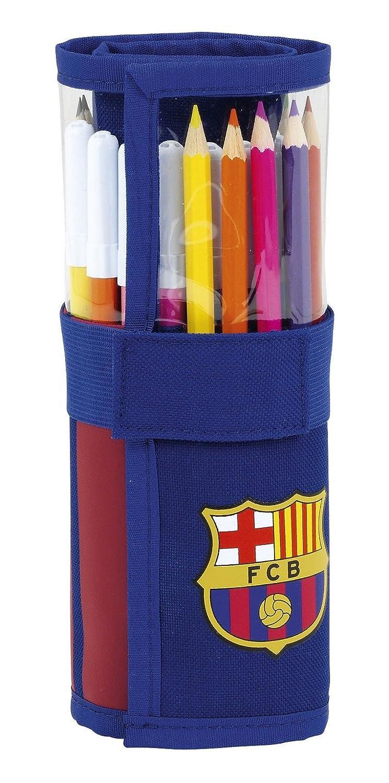 Safta Estuche Enrollable F.C. Barcelona 17/18 Oficial Útiles Incluidos 70x200mm: Amazon.es: Juguetes y juegos