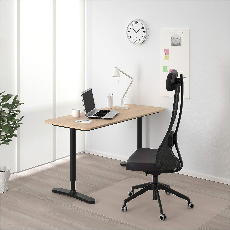 IKEA BEKANT – Mesa, chapa de abedul, negro: Amazon.es: Oficina y ...