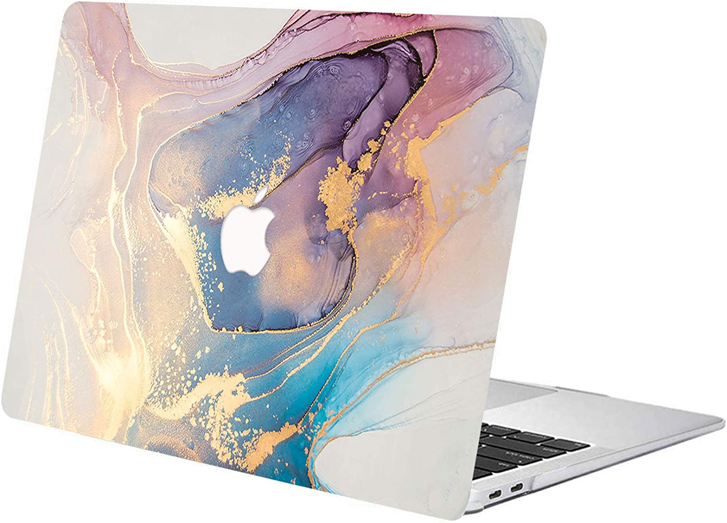 ACJYX Compatible with MacBook Air 13 inch Case Model A1466 & A1369 Older Version 2017 2016 2015 2014 2013 2012 2011 2010, Print Pattern Coated Plastic Protective Hard Shell Case, Colored Marble