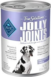 Blue Buffalo True Solutions Jolly Joints Natural Mobility Support Adult Dry Dog Food and Wet Dog Food, Chicken