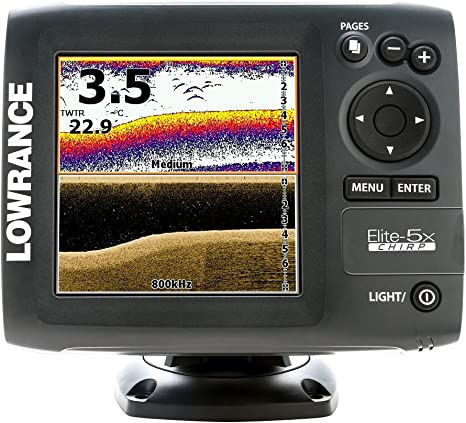 Lowrance Elite 5X Chirp - con Transductor 83/200 KHz + 455/800 KHz ...
