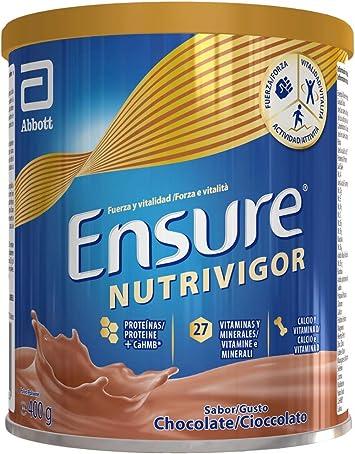 Ensure Nutrivigor - Complemento Alimenticio para Adultos, con HMB, Proteínas, Vitaminas y Minerales, como el Calcio - Sabor Chocolate - 400 g