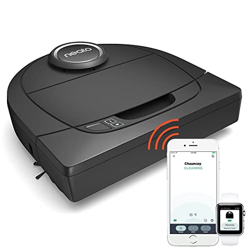 Neato Robotics Botvac D5 Connected Wi-Fi Navigating Robot Vacuum - Automatic Vacuum Cleaner with Large Dustbin for Pet Hair & Allergens - Alexa-ready