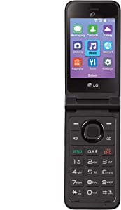 Tracfone Carrier-Locked LG Classic Flip 4G LTE Prepaid Flip Phone- Black - 4GB - Sim Card Included – CDMA, TFLGL125DCP