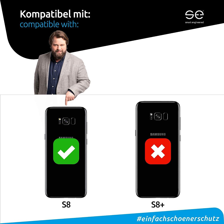 color transparente y negro Smart Engineered Carcasa para Galaxy S8