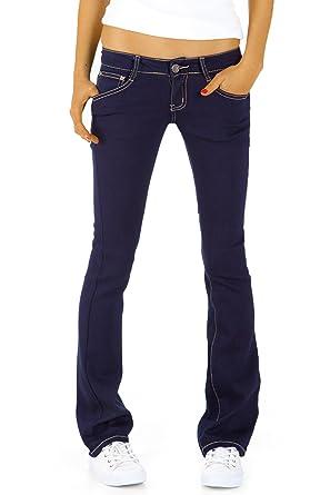 7a510c48432a Bestyledberlin Damen Hüftjeans Jeanshosen, Bootcutjeans – Stretchjeans  gerades Bein j43kw 34 XS