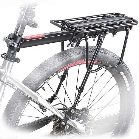 CARACHOME Ajustable Carrier Trasera para Bicicleta portaequipajes Bicicleta Accesorios Bicicleta Portador Estante con Reflector: Amazon.es: Deportes y aire libre