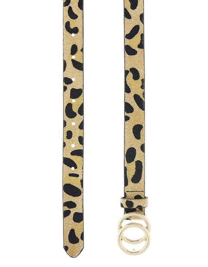 7d2caf2ba155 Accessorize Ceinture double boucle imprimé léopard - Femme - L (Large)   Amazon.fr  Vêtements et accessoires