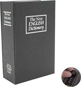 Book Safe Box Dictionary Diversion Lock Box with Combination Closing - Portable Book Safe - Store Money, Jewelry, and Other Documents 7.25