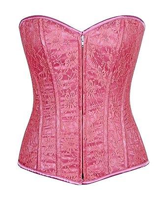 2ab94884726 Daisy corsets Lavish Pastel Pink Lace Front Zipper Corset Waist Cincher