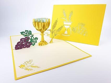 IHS Tarjeta de Comunión Pop Up tarjeta de felicitación ...