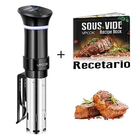 VPCOK Sous Vide Roner Cocina Baja Temperatura, 1000W, Pantalla LCD ...