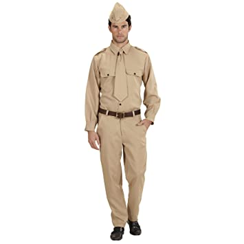 Amazon.com: WW2 Soldier Costume Extra Large For Military ...