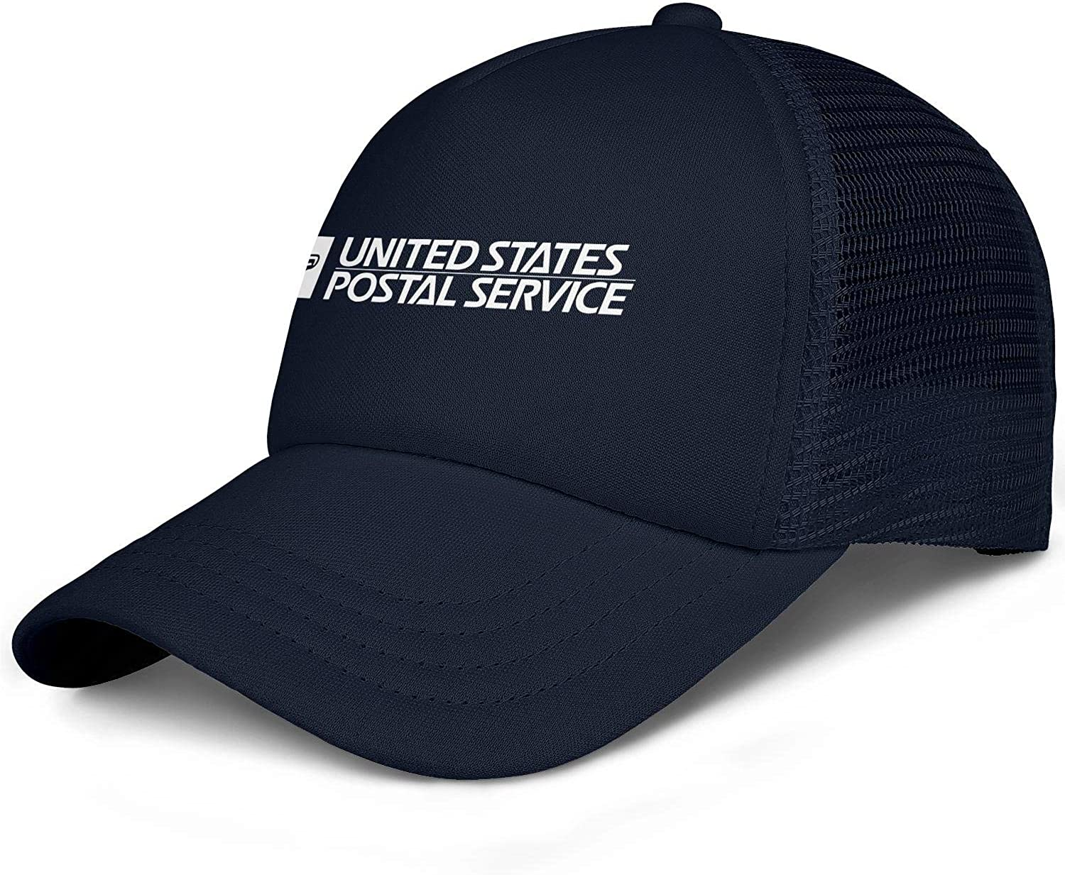 Men Unisex Adjustable White-United-States-Postal-Service-USPS-Logo-Baseball Caps Classic Flat Hats