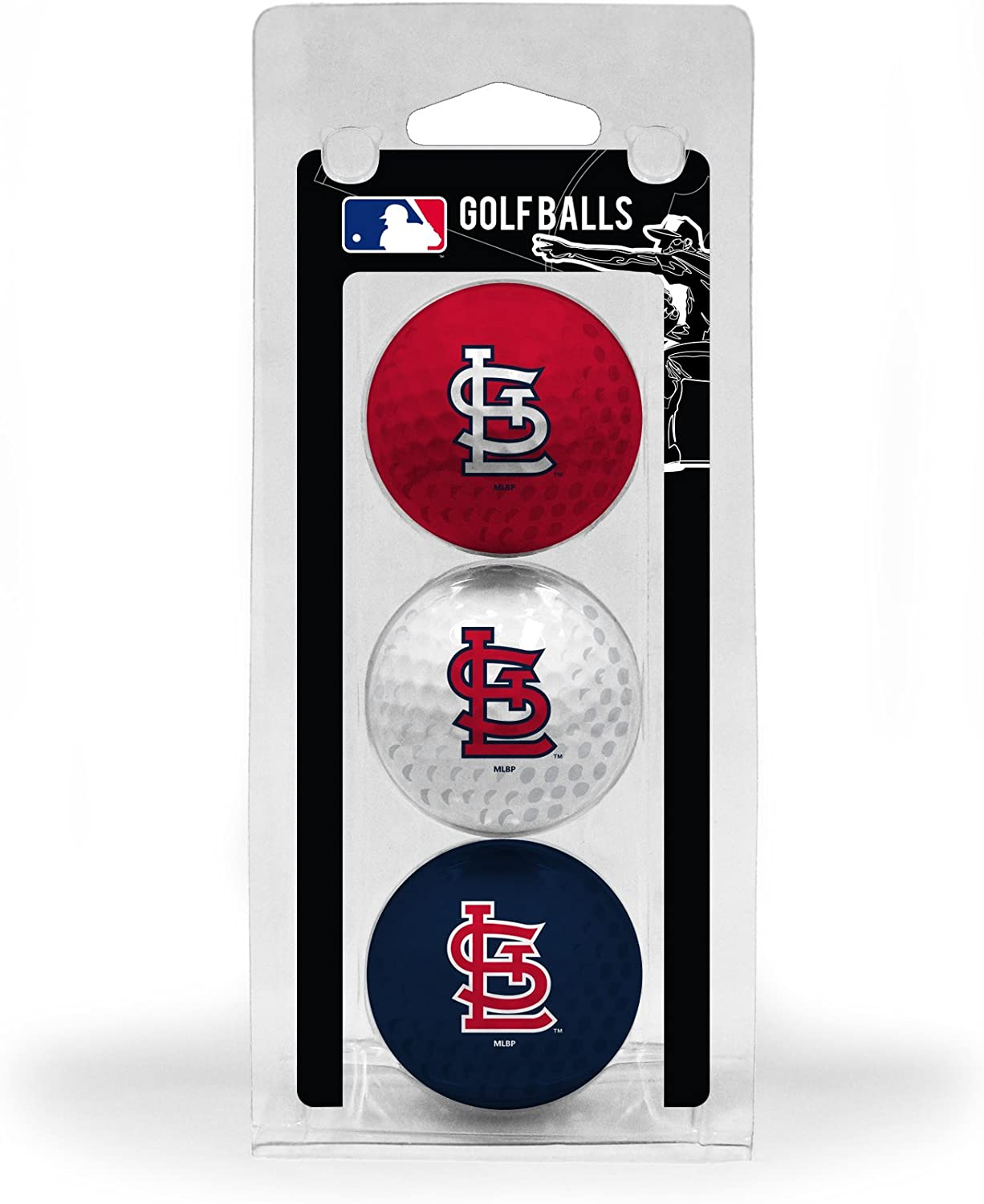 Team Golf MLB Regulation Size Golf Balls, 3 Pack, Full Color Durable Team Imprint (Ball Color May Vary)